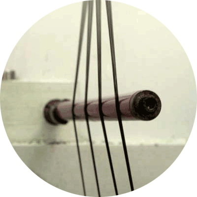 Extrusion de fils teint masse